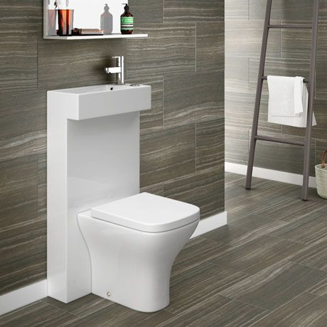 Milan Polymarble Combined Two In One Wash Basin Toilet Toilet Design Small Toilet Design Small Toilet