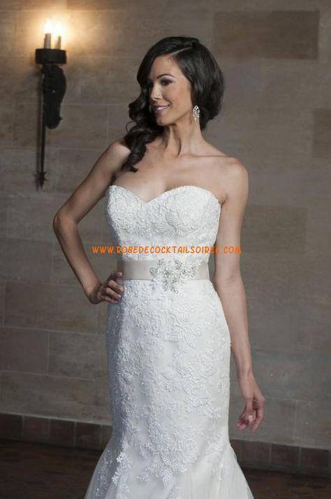 Belle robe de mariée bustier sirène 2013 ceinture dételle