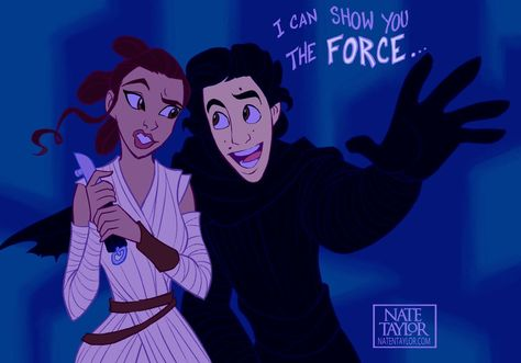 I can show you the force... #reylo #swfunny