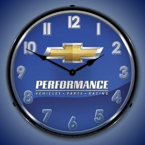 Chevrolet Performance Lighted Wall Clock 14 x 14 Inches