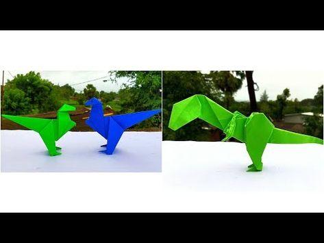 Origami Pterodactyl EASY origami dinosaur - Yakomoga Origami easy ... | 355x473
