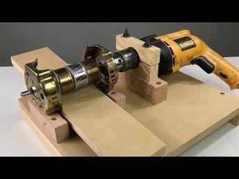 Truco Para Tu Taladro Idea Brillante Con Motor De Ventilador Youtube Motor De Ventilador Herramientas Manuales De Carpintería Herramientas De Carpintería