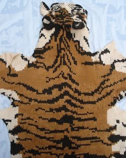 Knitted Tiger Pelt