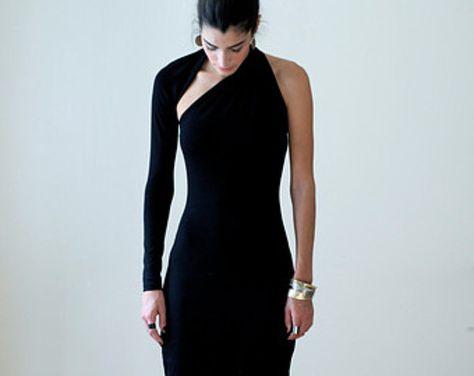 95152fe3ca7 Black Dress   One Shoulder Dress   LBD   Little Black Dress   Pencil Dress    Prom Dress   Party Dress   330   marcellamoda - MD003
