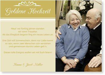 Einladungskarten Goldene Hochzeit 50 Jahre Glücklich