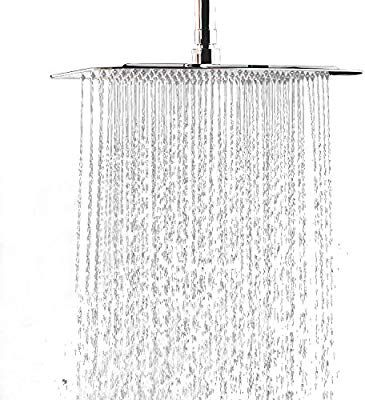 Wyjp 12 Inch Large Square Rain Showerhead Stainless Steel High