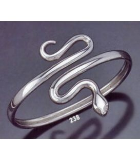 238 Sterling Silver Coiled Minoan Snake (L)