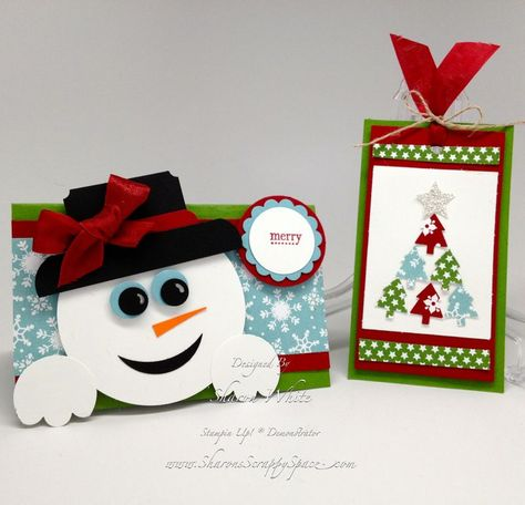 stampin up christmas punch art | Christmas Punch Art Treat Topper & Tag
