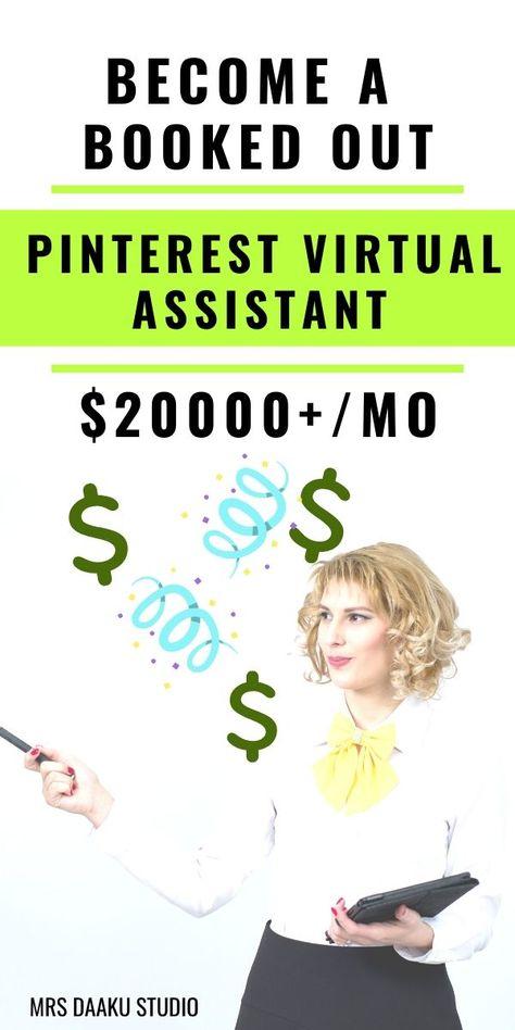 Pinterest Virtual Assistant Jobs - Make $10000 a month - Follow this.