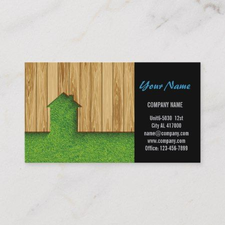Carpentry Construction Landscaping Fencing Business Card Zazzle Com Lawn Care Business Cards Lawn Care Business Construction Business Cards