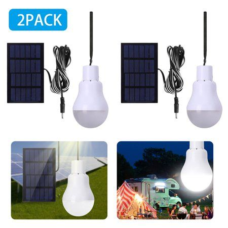 2 Pack Portable Solar Powered Led Lantern Tent Light Bulb Flyhoom Rechargeable Emergency Lamp For Outdoor Indoor Garden Camping Reading Lighting Cool White Tent Lighting Led Lantern Light Bulb