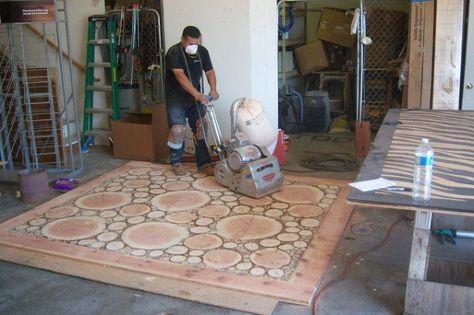 Log Floor (Handmade) :: Hometalk