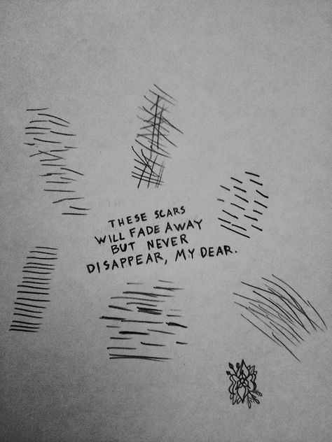 22 Best Self Harm Drawing Images On Pinterest
