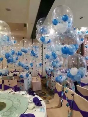 """CLEAR SEE THROUGH BALLOONS 10/""""// 18/"""" Large Helium Quality Wedding Decorations UK"""