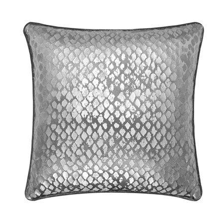 Distressed Foil Metallic Throw Pillow