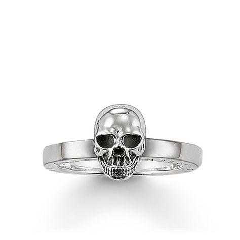 Ring skull 925 Sterling silver, blackened Size: 0.4 cm
