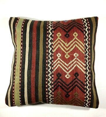 """NEW! Woollen Needlepoint Tapestry Pillow Cover Cushion Case Square 20"""" x 20"""""""