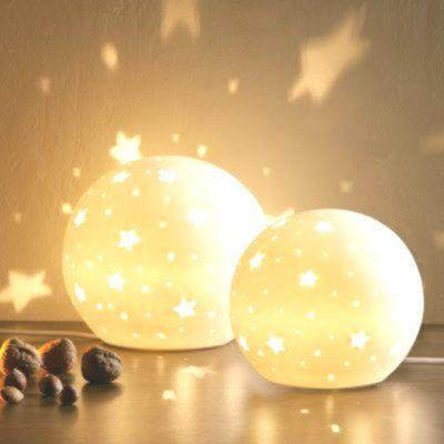 Stern Lampe Kinderzimmer: ✓ Porzellankugel ✓ erzeugt ...