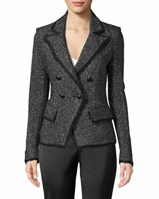918fafe6f08 Veronica Beard Designer Frisco Double-Breasted Tweed Jacket ...