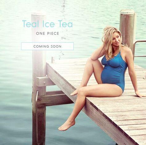 b981a57c0acc2 Teal Ice Tea one-piece maternity fuller busted Tankini  #rosewaterswimwearformothers #comingsoon