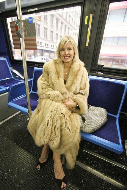 Mature women in fur
