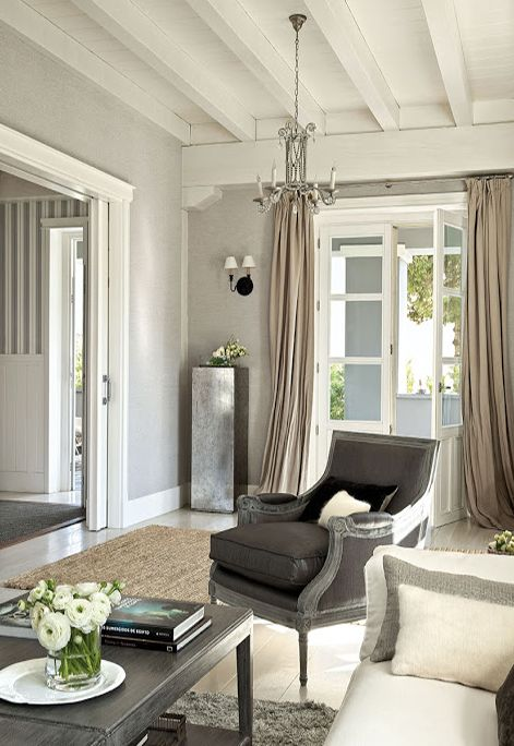 Dreamy And Inviting Villa Home Tour Curtains Living Room Trendy Living Rooms Living Room Colors