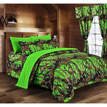 Home In 2020 Camo Bedding Bedding Sets Green Comforter