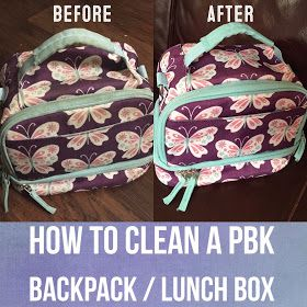 Diy How To Clean A Pottery Barn Kids Backpack Lunch Box