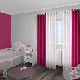 rideau essential coloris rose fuschia