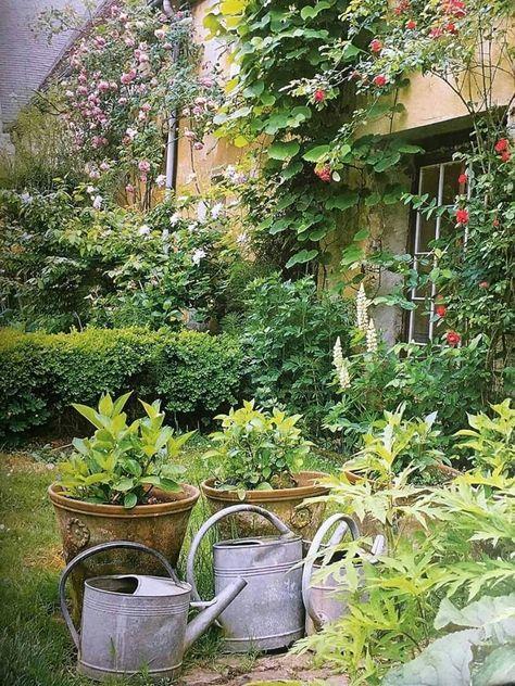 Epingle Par Fb Sur Le Bonheur Est Dans Le Pre Jardin De Cure Jardins Champetres