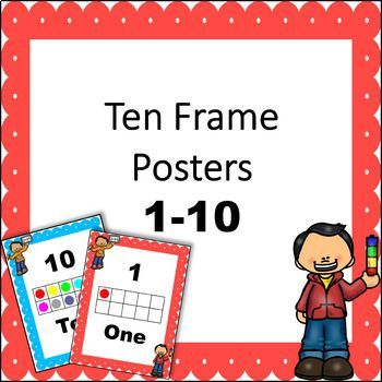 Free Ten Frame Posters 1 10 Free Math Lessons Poster Frame Ten Frame