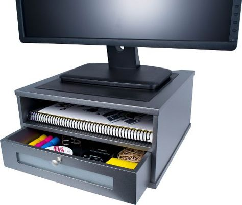 Victor Wood Monitor Riser, S1175 (Classic Silver) Victor