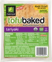 Organic Teriyaki TofuBaked  http://www.nasoya.com/where-buy-new-tofubaked
