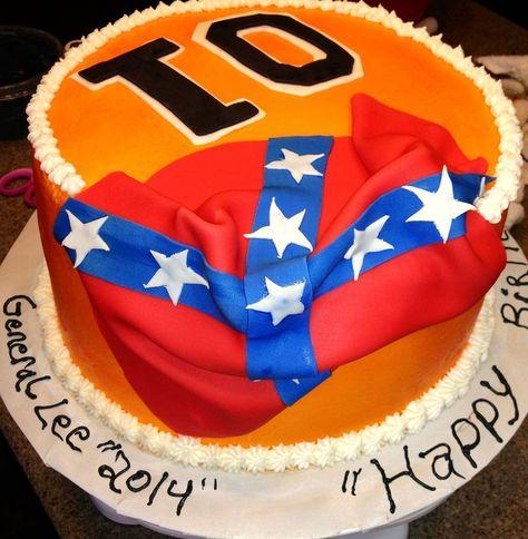Rebel Flag Birthday Cake cakepins.com