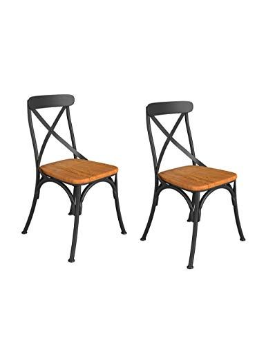 Wpjpzwj777 Vintage Wrought Iron Chair Bar Industrial Style Dining