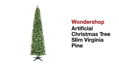 9ft Pre Lit Artificial Christmas Tree Slim Virginia Pine Clear Lights Wondershop Artificial Christmas Tree Slim Artificial Christmas Trees Artificial Christmas Tree Stand