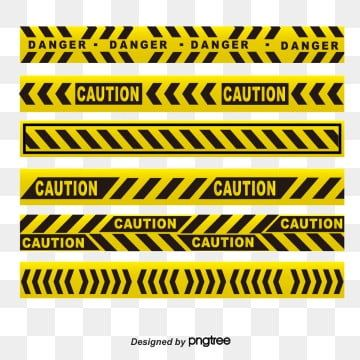 Yellow Black Warning Line Yellow Cordon Dividing Line High Pressure Cordon Png And Vector With Transparent Background For Free Download Sticker Design Aesthetic Stickers Red Warning Light