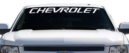 Chevrolet Chevy II Windshield Decals Customstickershopcom - Chevy window decals for trucks