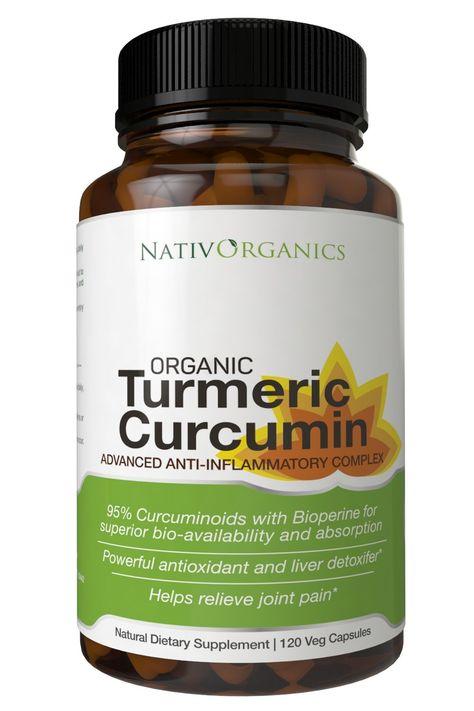 Organic Turmeric Capsules- Organic Turmeric with Black Pepper 95% Curcumoids- 120 Vegetarian Organic Turmeric Curcumin Capsules-The Best Turmeric Supplement Certified Organic on Amazon!