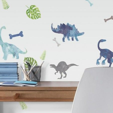 Watercolor Dinosaur Peel And Stick Wall Decals Dinosaur Wall