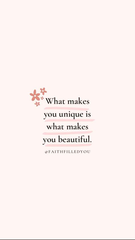An inspirational quote to live by to remind you to embrace your unique qualities and your natural beauty because that makes you beautiful! #faithfilledyou #motivationalquotes #inspiration #beautyquotes #inspirationalquote #inspirationalquotes #quotestoliveby