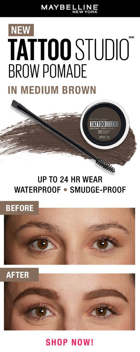 Bring Out Your Best Brows With Maybelline S Tattoo Studio Brow Pomade Formulated For Long Lasting Wear This Matt Eyebrow Makeup Maybelline Tattoo Brow Pomade