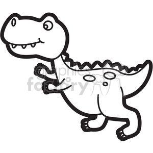 Trex Dinosaur Cartoon In Black And White Dinosaur Clip Art Dinosaur Drawing Cartoon Coloring Pages