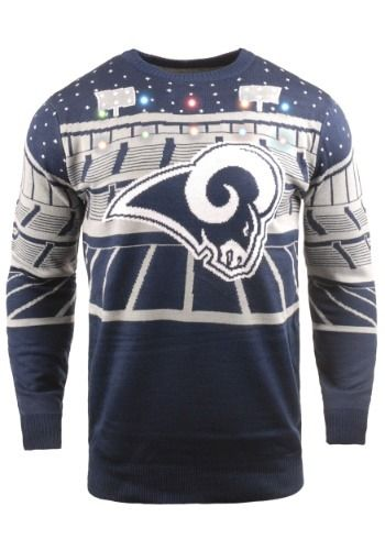 competitive price 6251b 33c72 Men's Los Angeles Rams Light Up Bluetooth Ugly Christmas ...