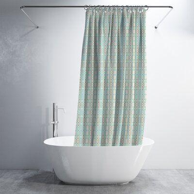 World Menagerie Aaden 2 Piece Shower Curtain Set Colour Light