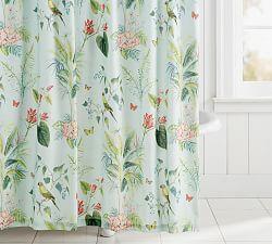 Lia Palm Shower Curtain Shower Curtain Apartment Bedding House
