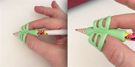 These pencil grippers teach kids how to hold a pencil