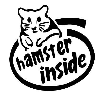 For your consideration is a die cut vinyl hamster inside decal available in multiple sizes and colors vinyl decals will stick to any smooth clean surface