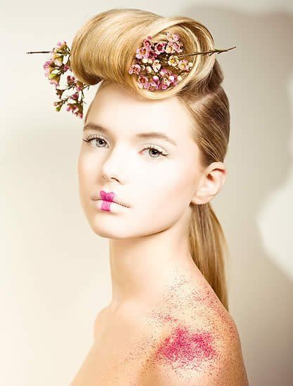 A long blonde straight dramatically rolled fringe quirky avant garde hairstyle   #leonorgreyl #haircare   www.leonorgreyl.com