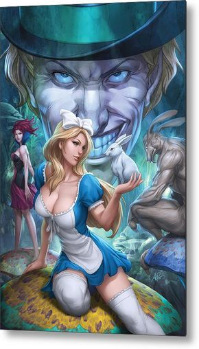 colors for alice being pulled into wonderland. my cover for Alice in Wonderland from Zenescope Comics Alice in Wonderland 1 colors Cartoon Cartoon, Cartoon Kunst, Comic Kunst, Sexy Cartoons, Animated Cartoons, Fantasy Girl, Evvi Art, Stanley Lau, Alice In Wonderland 1